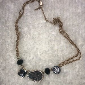 Kenneth Cole Gold stone statement necklace